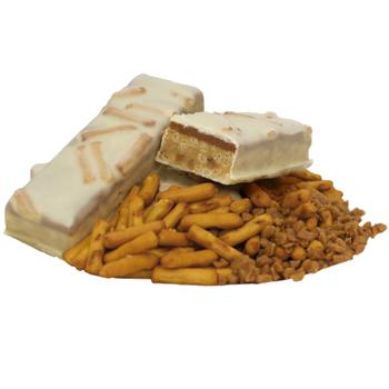 Barre de substitut de repas au caramel croquant et bretzel
